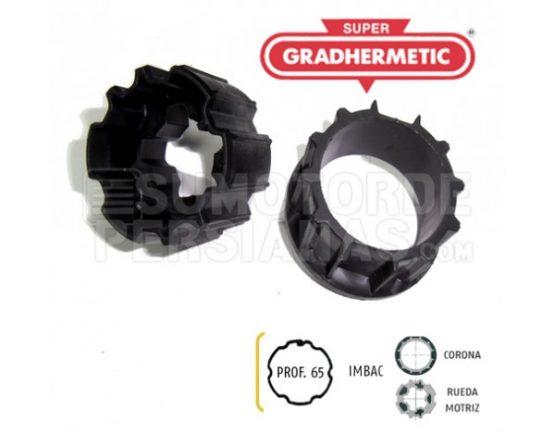 Adaptador Somfy de motor a eje persiana 65mm Supergradhermetic