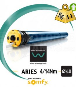 Motor Somfy 40mm Cable ARIES 4/14