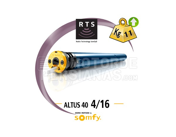 Motor Somfy 40mm RTS ALTUS 4/16