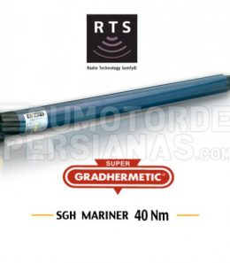 Motor Somfy Mariner Supergradhermetic RTS 40Nm