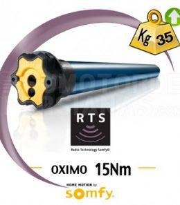 Motor Somfy RTS Oximo para persiana 15Nm