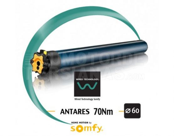 Motor Somfy via cable ANTARES 70/17