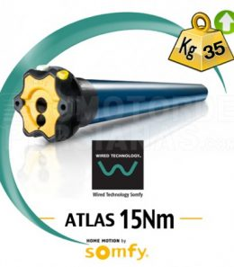 Motor Somfy via cable ATLAS 15Nm