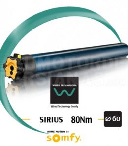 Motor Somfy via cable SIRIUS 80/12