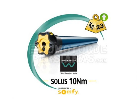 Motor Somfy via cable Solus 10Nm