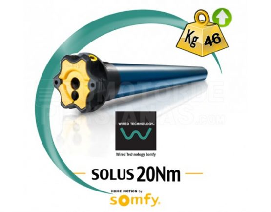 Motor Somfy via cable Solus 20Nm