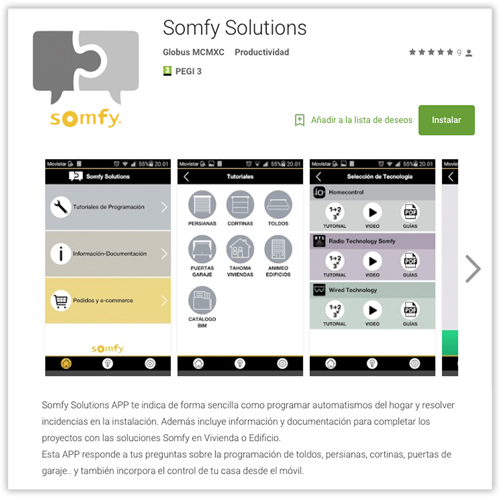 somfy-solutions app store