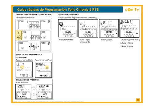 Motores persianas Somfy con programador crepuscular horario