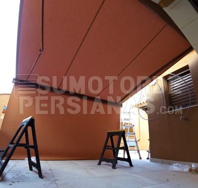 Impresionante instalación toldos Weinor