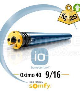 Motores Somfy IO persianas pequeñas eje 40 mm